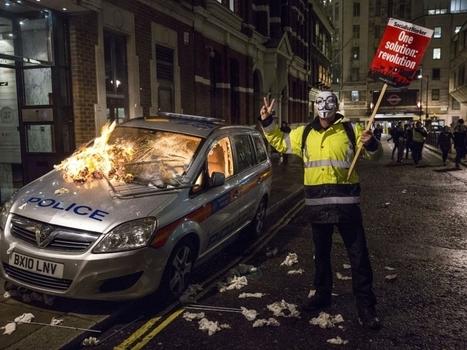 """PHOTOS. Londres : une """"Marche des millions de masques"""" agitée   Un peu de tout et de rien ...   Scoop.it"""