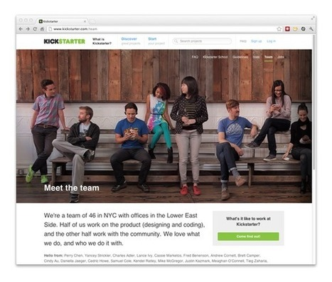 How They Did It: Kickstarter's Team Page | Webdesigntuts+ | SM | Scoop.it