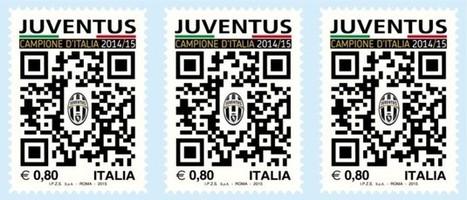 Pronto il francobollo con il QR Code dedicato alla Juventus | QRCODE_ITALY | Scoop.it