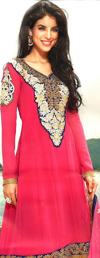Anarkali suit with Resham work | dulhanebegum | Scoop.it