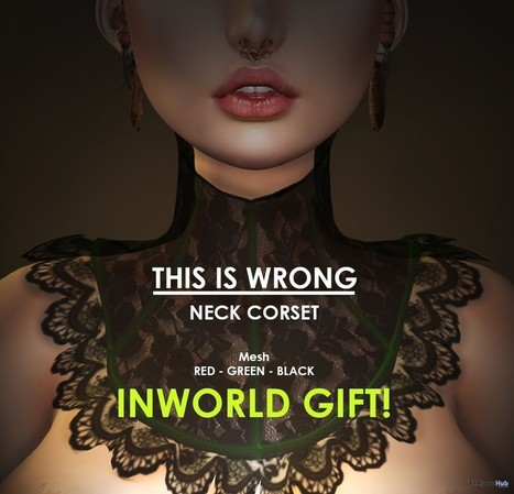 Neck Corset Gift by THIS IS WRONG | Teleport Hub - Second Life Freebies | Second Life Freebies | Scoop.it