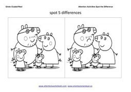 spot the difference Worksheet collection and coloring | Attention Work Sheets | Materiales interesantes en ingles | Scoop.it