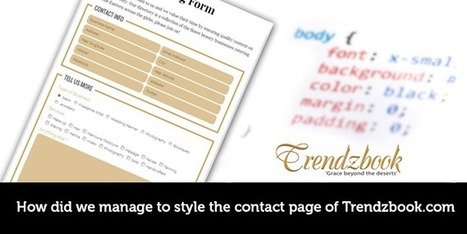 How did we Manage to Style the contact Page of Trendzbook.com - Brightlivingstone.com   Brightlivingstone.com   Scoop.it