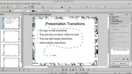 Add transitions and custom animations to presentations in LibreOffice Impress | Digital Presentations in Education | Scoop.it