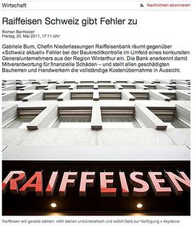 Der Krisenblog: Seltsamer Umgang mit Kritik: Wie Raiffeisen Schweiz sich selber eine schwere Hypothek aufbürdet.   Public Relations - PR   Scoop.it