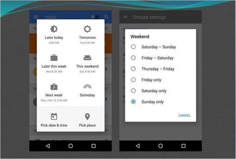 Inbox by Gmail Brings A New Snooze and Weekend Settings | GoToWebsites | Scoop.it