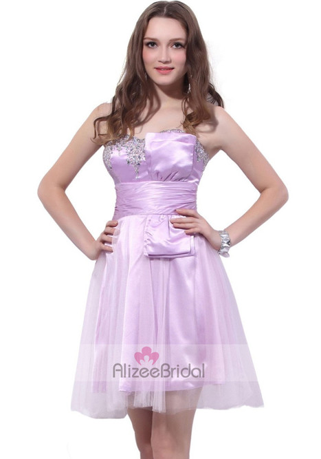 Strapless Mini Tulle A-Line Purple Prom Dresses Opd1050 | Fashion Dresses Online | Scoop.it