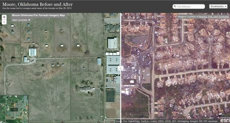 Moore, OK: Before and After Imagery | AP HUMAN GEOGRAPHY DIGITAL  TEXTBOOK: MIKE BUSARELLO | Scoop.it