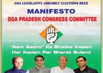 Goa News | Free power & water to poor, cheap loans to women & unemployed in Cong manifesto | Women In Media | Scoop.it