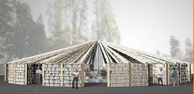 Construction d'une bibliothèque dont les murs sont composés de 50 000 livres | Baboué ? | Scoop.it
