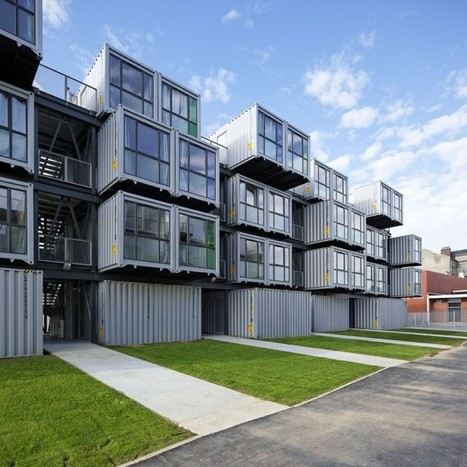 Cité A Docks Student Housing by Cattani Architects - shipping containers | Tom Stitt's Container Innovation Scoop.it! | Scoop.it