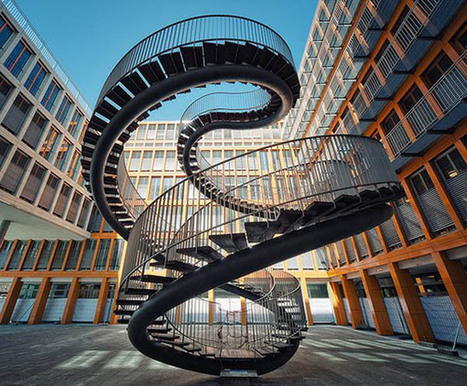 11 Great Examples of Spiral Staircases | Designing Interiors | Scoop.it