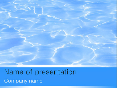 Download free Blue Water powerpoint template for presentation | Powerpoint Templates and Themes | Scoop.it