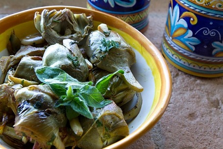 Golden Brown Artichokes Braised in White Wine | Le Marche and Food | Scoop.it