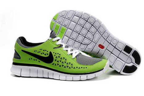 Nike Free Run Running Shoe Grey Green Black Mens | want and share | Scoop.it