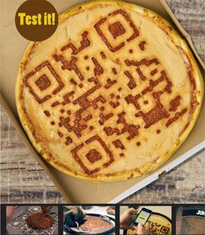 Pizzas con forma de código QR como mensaje publicitario « Cukmi | VIM | Scoop.it