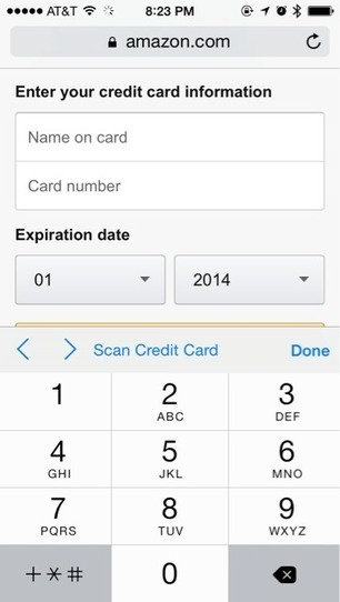 Safari in iOS 8 uses camera to scan and enter credit card info | Digital Retail Thoughts in English | Scoop.it
