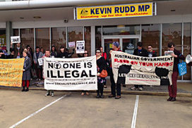 Kevin Rudd asylum seeker policy prompts protest | What are the key conflicts occurring in 2013 and where are they happening? | Scoop.it