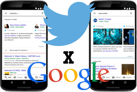 Google Adds Tweets To Its Mobile Search Results | Multimedia Journalism | Scoop.it
