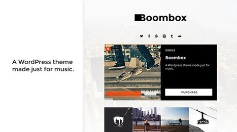 Boombox: Stylish and Responsive Music WordPress Theme - WordPress For Musicians | Wordpress For Musicians And Creatives | Scoop.it