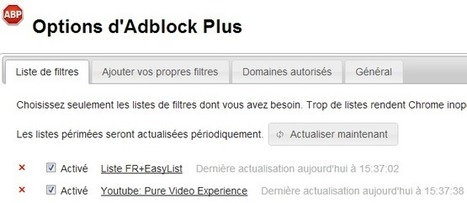 Comment nettoyer YouTube avec Adblock Plus ? [tuto] | Time to Learn | Scoop.it