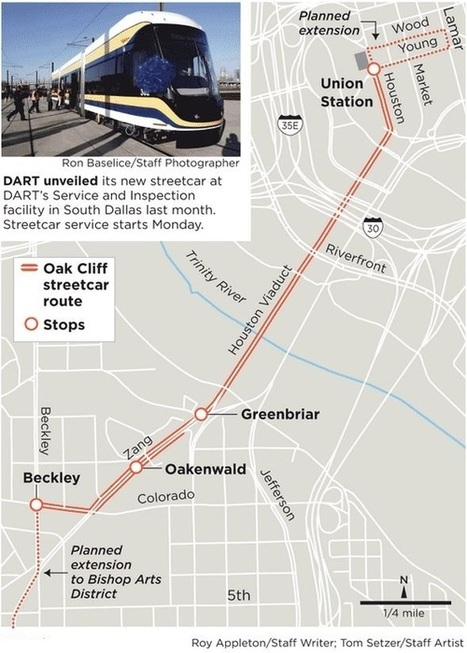 Dallas' new streetcar begins service between downtown, Oak Cliff | All Things Texas | Scoop.it