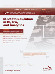 Orlando World Conference 2013 -- TDWI Events | Big Data, Analytics, Business Intelligence, and Cool Stuff | Scoop.it