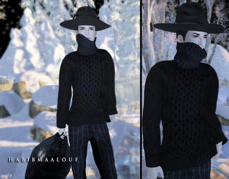 WARM SWEATER FOR GUYS by GABRIEL! | MIMI'S CHOICE IN SECOND LIFE | Scoop.it
