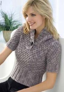 Short Sleeve Hooded Sweater - Knitting and Crochet Patterns .   Basic StitchesBasic Stitches   handmade4all.com   Scoop.it