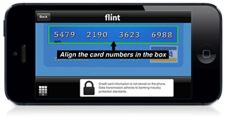 Mobile card imaging: Flint's Mobile payment apps eliminates need for card reading dongle  [VIDEO] | Payments 2.0 | Scoop.it