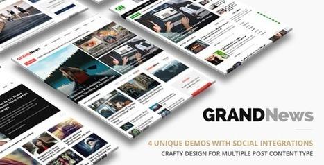 Grand News   News Magazine (News / Editorial) Download   Wordpress Themes Download   Scoop.it