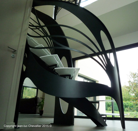 Création d'escalier design débillardé | La Stylique | Escalier Design Mobilier Contemporain de style Art Nouveau | Scoop.it