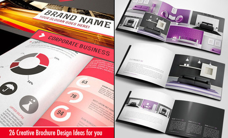 26 Best and Creative Brochure Design Ideas for your inspiration | Web Design | Scoop.it
