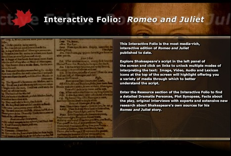 Interactive Folio : Romeo and Juliet | English | Scoop.it