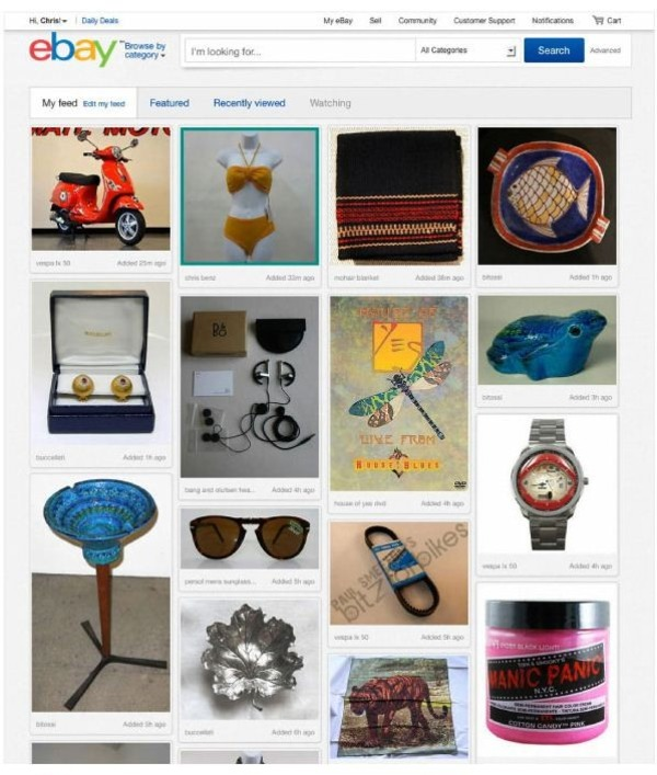 eBay new layout: Pinterest-Like website for content curation | Curation, Veille et Outils | Scoop.it