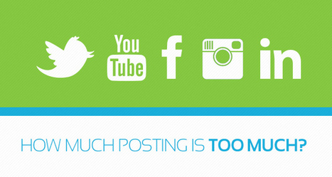 The science of establishing your social posting frequency.   Boogie Graphics - Marketing and Advertising Agency   You Are Posting Too Much   Scoop.it
