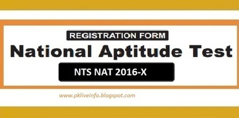 NTS NAT (National Aptitude Test) 10th Test 2016-X Registration Online   National testing Service   Scoop.it