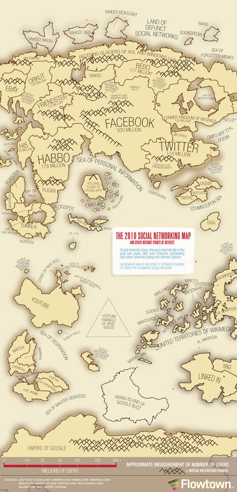 2010 Social Networking Map & Other Internet Points of Interest | Techie News From Around The World | Scoop.it