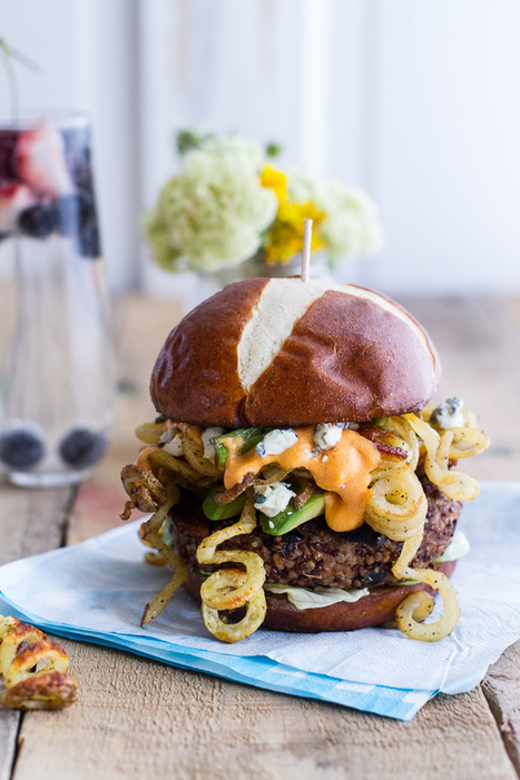 #HealthyRecipe // Buffalo-Blue Curly Cheese Fry and Crispy Black Bean Burgers | The Man With The Golden Tongs Goes All Out On Health | Scoop.it