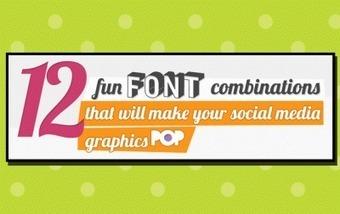12 Fun Font Combinations That Will Make Your Social Media Graphics Pop   Enlaces interesantes, útiles, de descargas...   Scoop.it