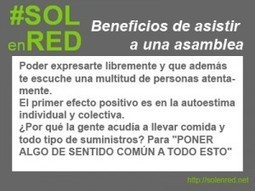 Beneficios primarios de las asambleas del 15M | Blog de #SOLenRED | moneda social | Scoop.it