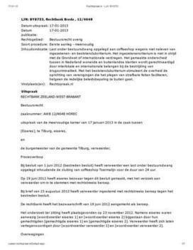 LJN: BY8753-Rechtbank Breda-12/4648 | Cannabis & CoffeeShopNews | Scoop.it