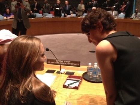 Najat Vallaud-Belkacem aux côtés d'Angelina Jolie pour dénoncer les violences sexuelles   Najat Vallaud-Belkacem   Scoop.it