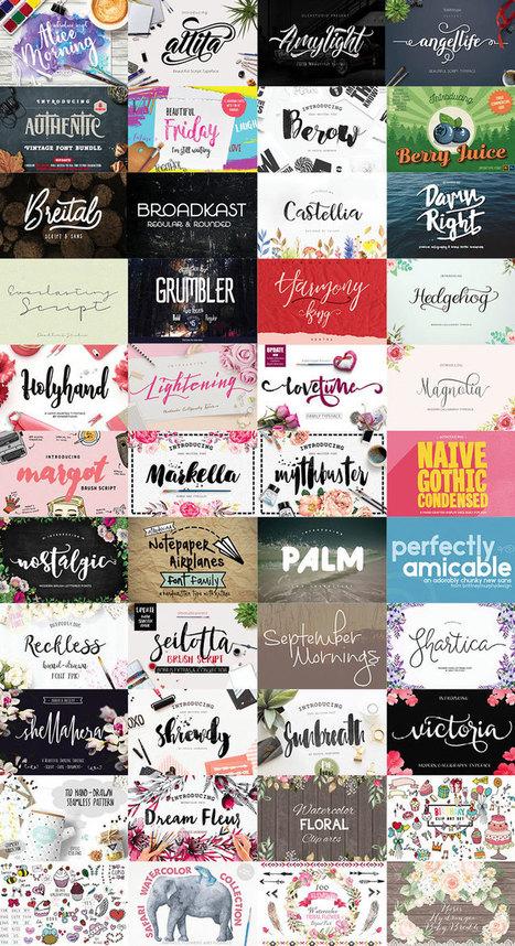 [Bundle] - En Avril téléchargez 36 typographies pour 29$ | Graphic design | Scoop.it