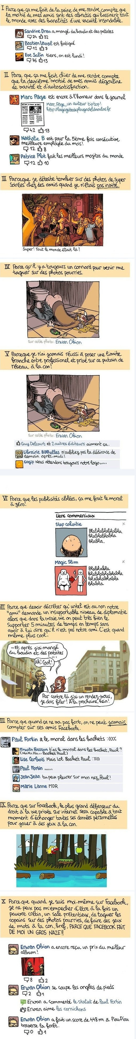 [Novembre 2011] 10 raisons de quitter Facebook | Ca m'interpelle... | Scoop.it