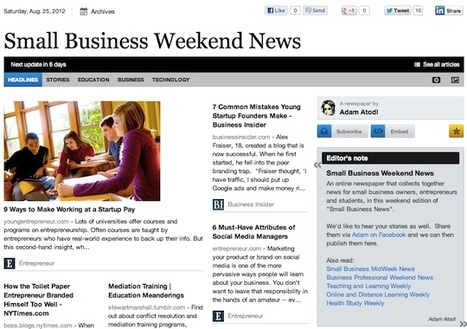 Aug 25 - Small Business Weekend News is out | Business Futures | Scoop.it