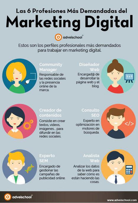 Las 6 profesiones del Marketing Digital #infografia #infographic #marketing   Herramientas WEB 4.0   Scoop.it