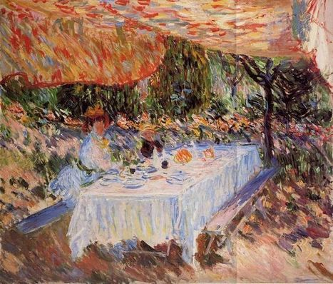 Oil painting reproduction: Claude Oscar Monet Lunch Under The Canopy - Artisoo.com | famous paintings gallery | Scoop.it