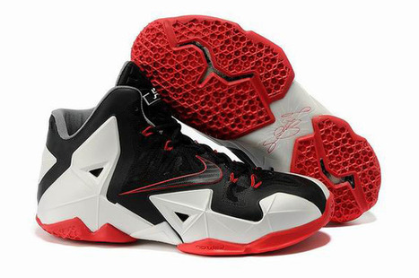 LeBron 11 Black White Red Nike Mens Size Shoes | my style | Scoop.it