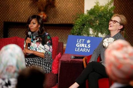 Michelle Obama, daughters and mom promote girls' education in Morocco   gender issues - human rights   Scoop.it